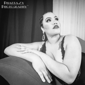 Llexi in Black and White from her Boudoir shoot © Phantasy Photography™ | All Rights Reserved